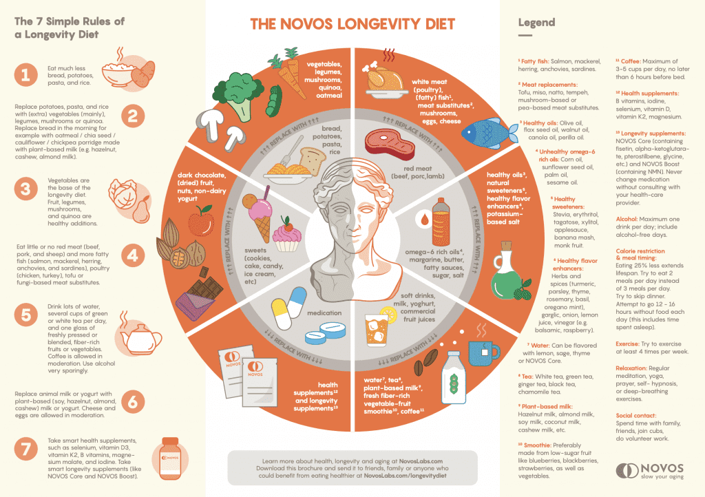 Healthy diet for longevity life extension slow aging